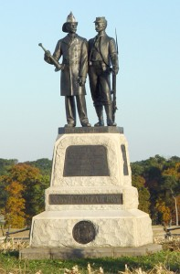The Memorial to the Fire Zouaves, the 73rd New York Infantry Regiment, at the Gettysburg National Memorial.
