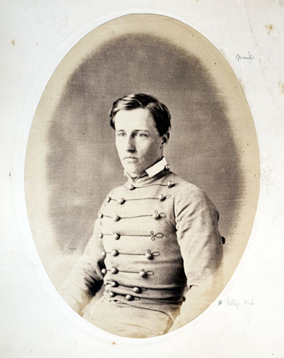 Colonel Charles McKnight Leoser, from a 1861 graduation photograph from the United States Military Academy at West Point